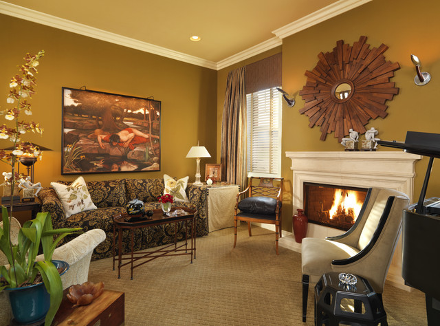 Music Room Traditional Living Room Las Vegas By