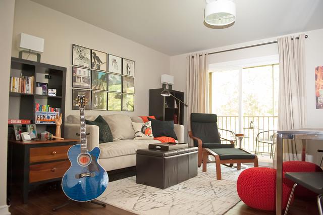 Musician's Music Row Condo in Nashville contemporary-living-room