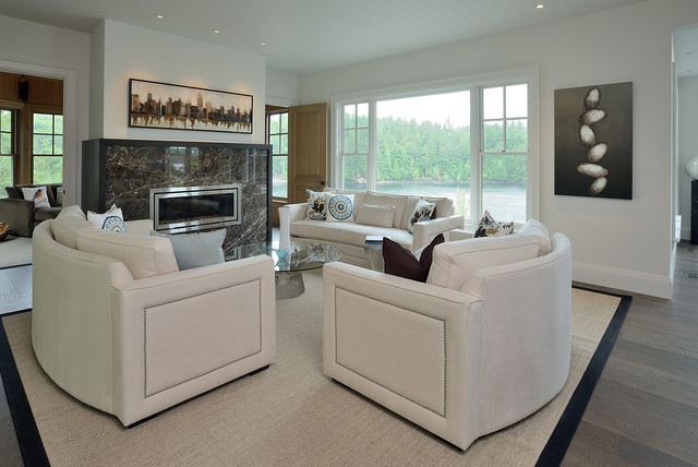 Muskoka cottage contemporary living room toronto for Arnal decoration