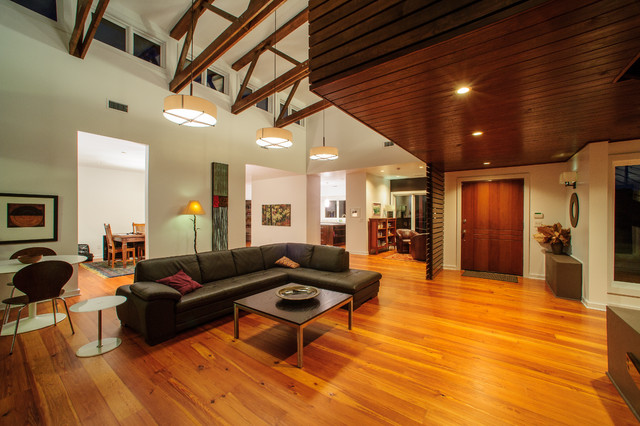 My earthy, contemporary home - contemporary - living room -