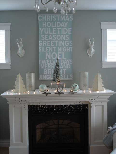 My holiday mantel contemporary-living-room