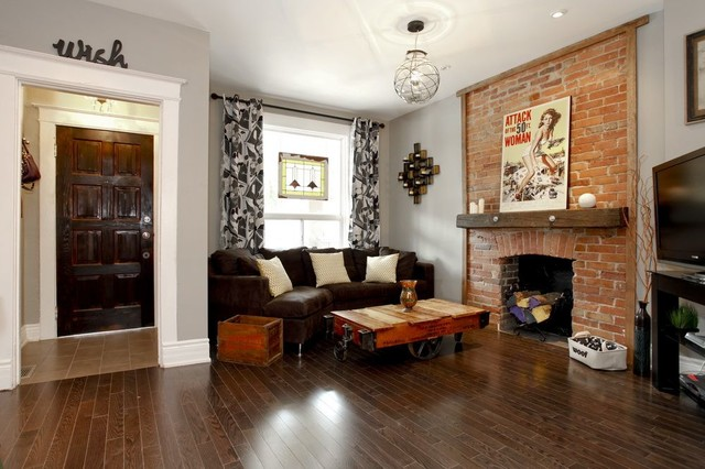 My Home Renovation Eclectic Living Room Toronto By