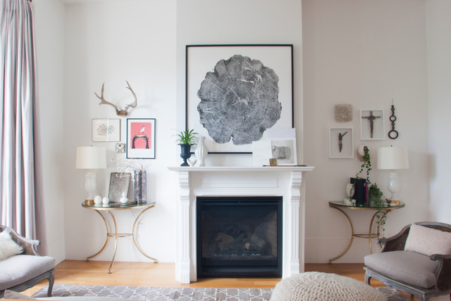 My Houzz 1896 Victorian Home Gets A Contemporary Lift Transitional Living Room
