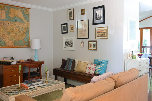 My Houzz 1940s Fixer Upper Grows Up With The Family Traditional Living Room Los Angeles