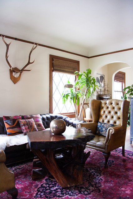 My Houzz A 1920s Tudor Makes Well Appointed For Two Creatives Eclectic Living