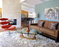 My Houzz: A Cliff May Home Leads the Way in Long Beach midcentury living room