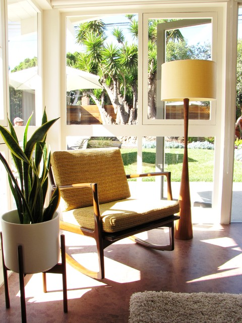 My Houzz A Mid Century Marvel Revived In Long Beach Midcentury Living