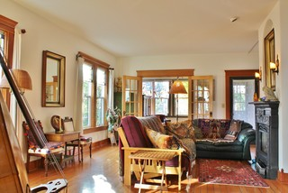 Musical whimsy in bellingham eclectic living room for Accents salon bellingham