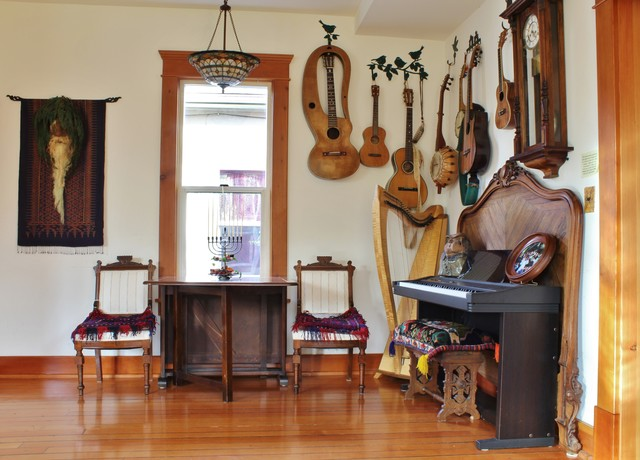 Musical Whimsy In Bellingham Eclectic Living Room