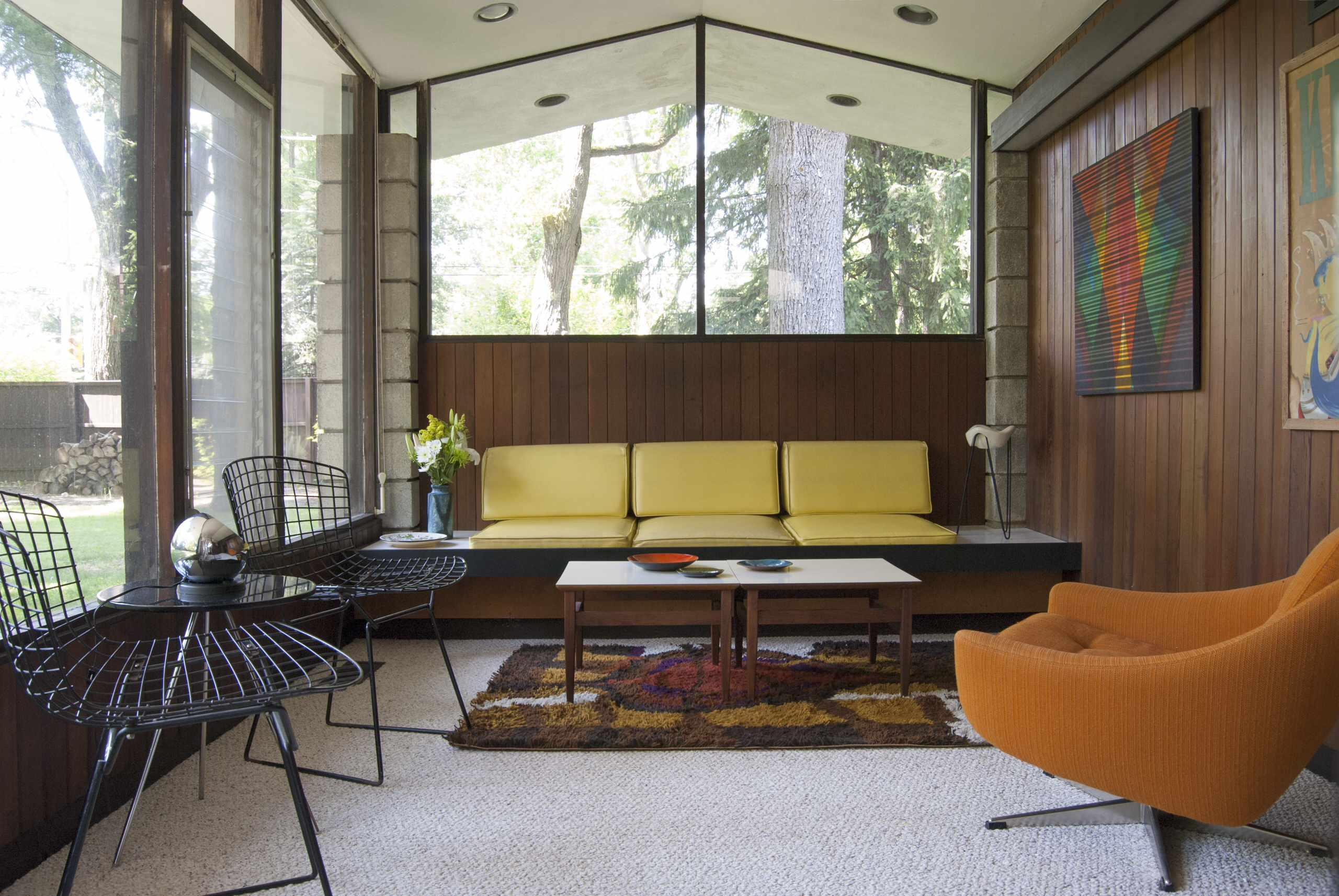 1950s Midcentury Living Room Ideas Photos Houzz
