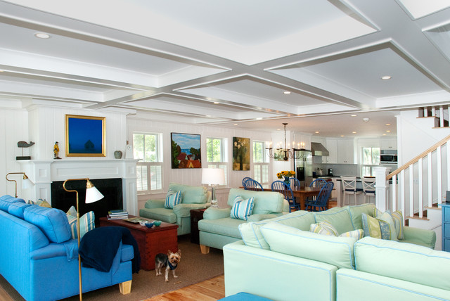 Provincetown Beach House Beach Style Living Room Other Metro By Mary
