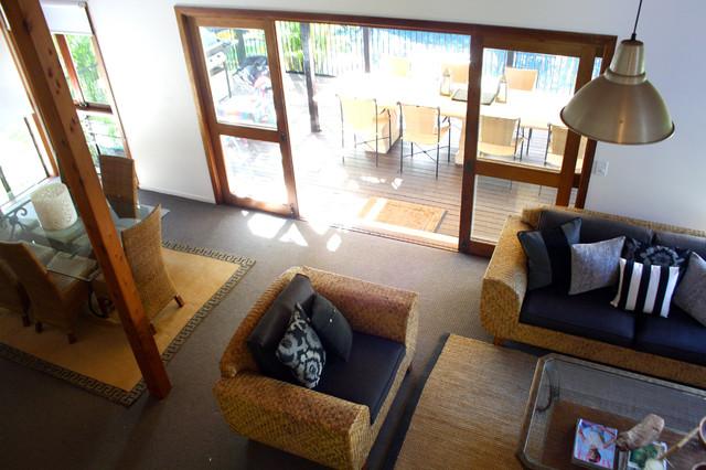 My Houzz: Beach meets Bush in a Caribbean Inspired Noosa Home mediterranean-living-room