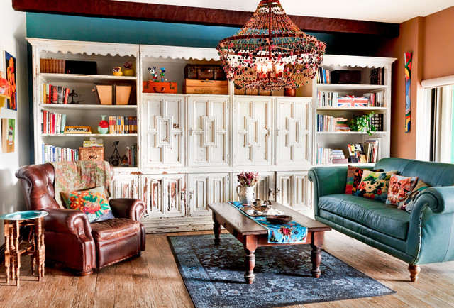 My Houzz: Blue Stallion Farm eclectic-living-room