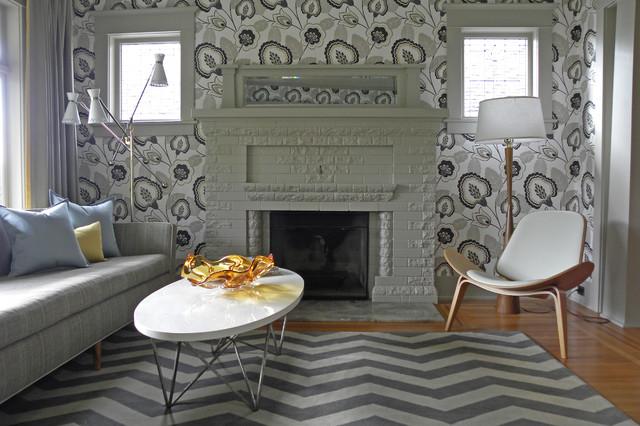 Seattle, WA: Lisa Hebner craftsman-living-room