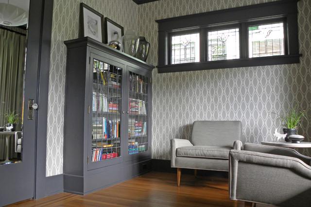 My Houzz Bold Wallpaper Kicks Up A Century Old Craftsman