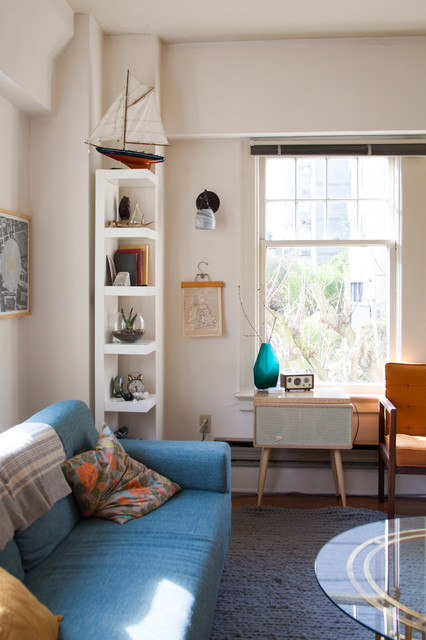 Eclectic Living Seattle My Houzz: Bright and Airy Apartment Beats the Seattle Grey eclectic-living-room