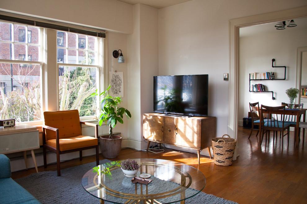 客厅飘窗混搭风格装修图片