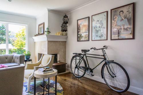 【Houzz】スポーツ用自転車を家の中に収納・保管する5つのアイデア 5番目の画像