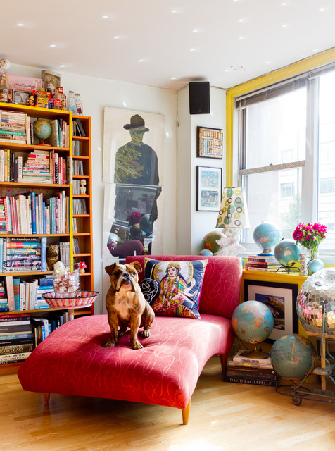 My Houzz: Candy-Colored Collections Wow in Manhattan - Eclectic - Living Room - New York - by Rikki Snyder