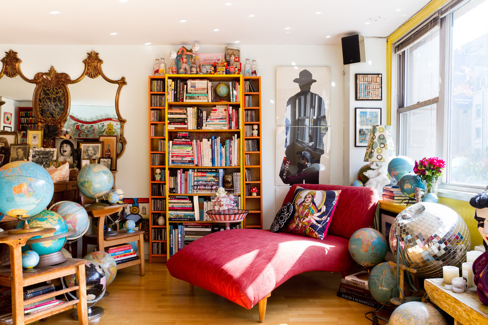 Eclectic living room photo in New York