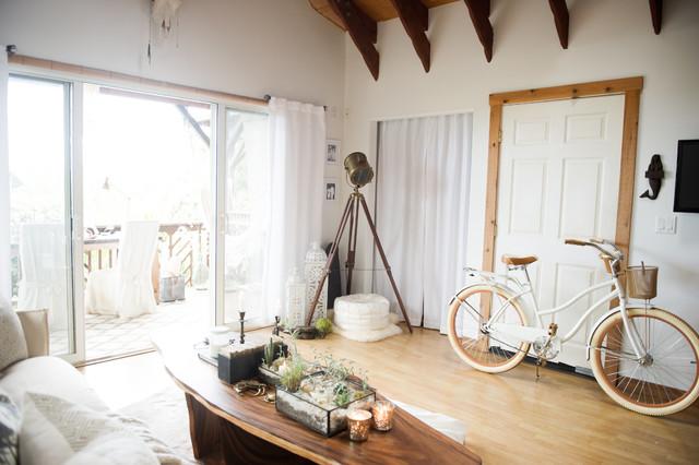 Bohemian Jungle Artist Studio Beach Style Living Room