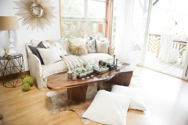 Bohemian Jungle Artist Studio Coastal Living Room