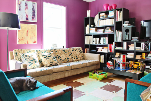 My Houzz: Color and Creativity Energize a Midcentury Home