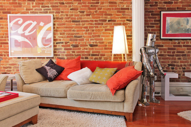 My Houzz: Color meets Charm in this Renovated Montreal Duplex eclectic-living-room
