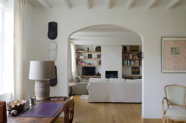 My Houzz Contemporary Belgian Style Transforms A Dutch Country Cottage Farmhouse Living Room