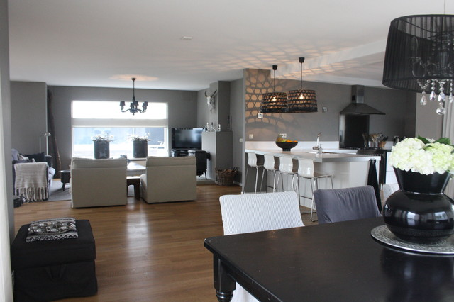 My houzz country chic family home in the netherlands for Lichte kleuren interieur