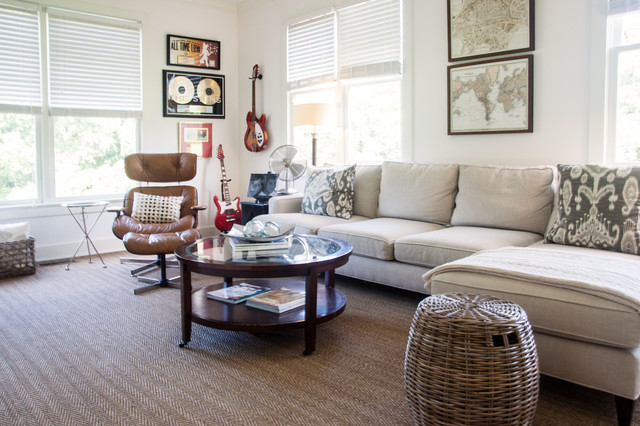 Cream Couch Houzz - Carpeted living rooms