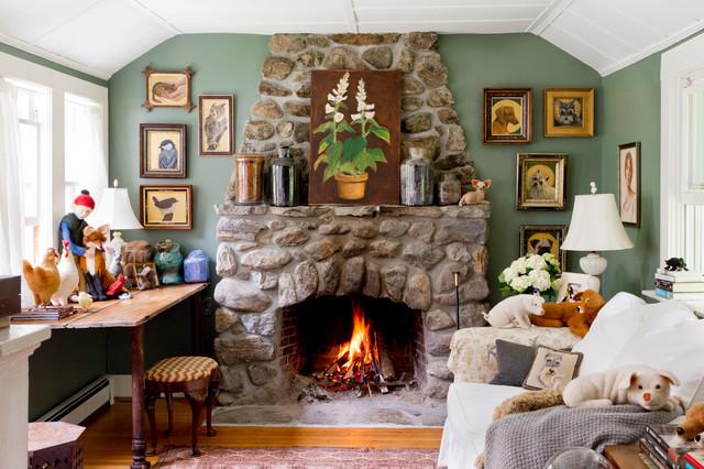 my houzz creativity flows in a new hampshire cottage farmhouse rh houzz com houzz stacked stone fireplaces