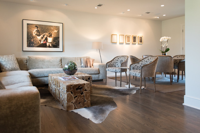 My houzz dallas cottage expands into a live work home moderno sal n dallas de angela - Houzz salones ...
