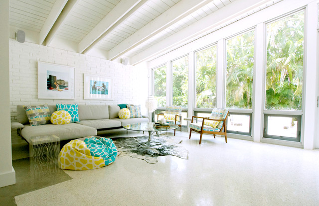 My houzz devlin baldassari residence beach style for Living room decor ideas houzz