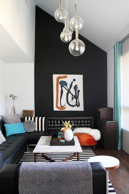My Houzz DIY Determination In Mid Century Modern Montreal Home Midcentury Living