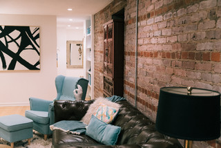 My Houzz: DIY Remodelers Find a Surprise in Their 1903 Condo eclectic-living-room