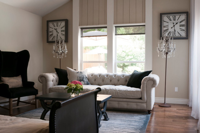 My houzz gurfinkel transitional living room dallas for Transitional living room decor