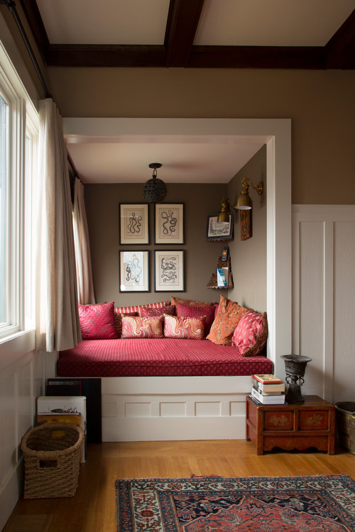 22 reading nooks that will make you want to curl up with a for Bed nook ideas