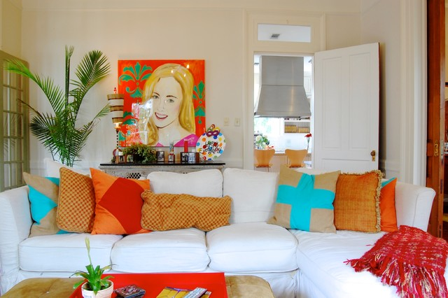 My Houzz: Colorful eclectic style in a traditional New Orleans home eclectic-living-room