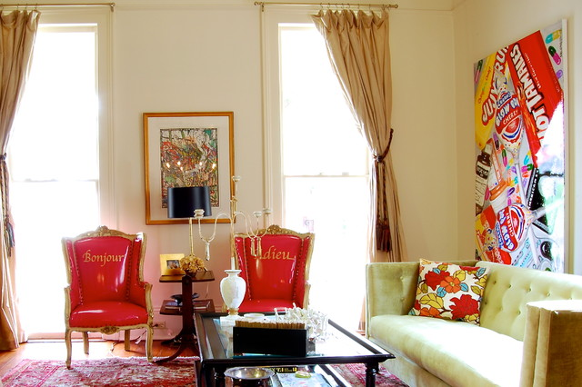 My Houzz Colorful Eclectic Style In A Traditional New Orleans Home Eclectic Living Room