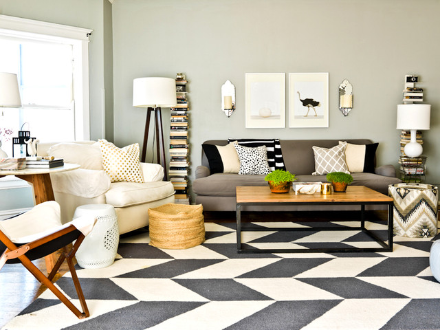 Contemporary Living Room Rug 17 gorgeous ways to work in a patterned area rug