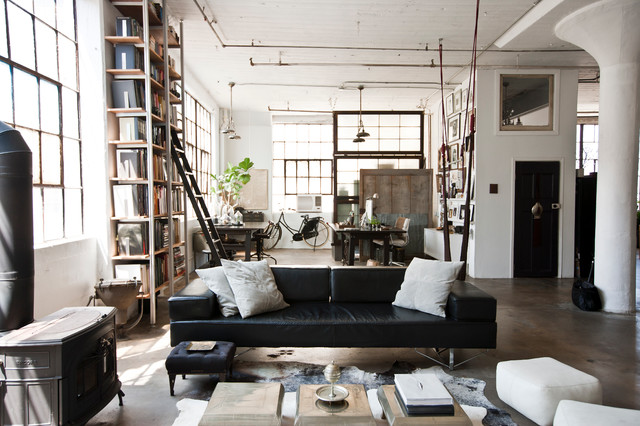 My Houzz International Meets Industrial in a Brooklyn Loft