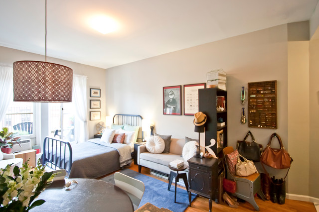My houzz less room leads to creative chic in manhattan eclectic living room
