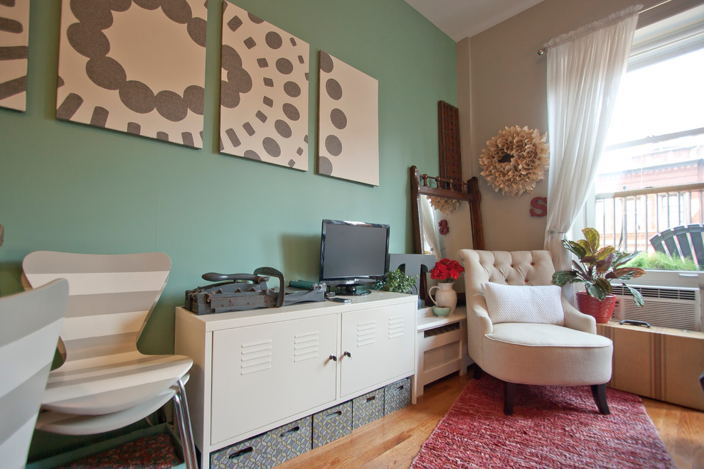 My Houzz Less Room Leads To Creative Chic In Manhattan Eclectic Living Room New York By Chris A Dorsey Photography