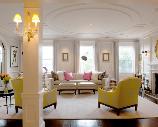 Defined by arches and columns living room design ideas for Living room columns