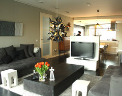 My Houzz: Modern Dutch home combines vintage and Asian touches eclectic-living-room