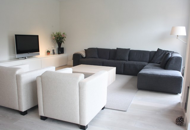 My houzz modern meets traditional in the netherlands - Traditional contemporary living room ...