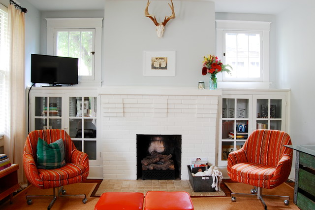 My Houzz Modern Meets Vintage In This Eclectic Nashville Home Craftsman Living Room