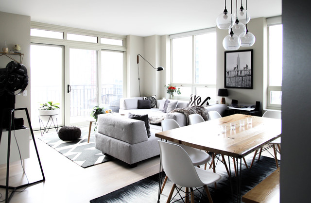 My Houzz Monochromatic Style In A Chicago High Rise Condo