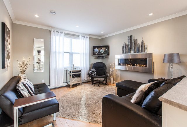 My Houzz Open Concept Apartment Above Retail In Downtown